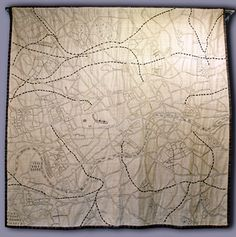 London map quilt, embroidered, by Ekta Kaul (London, UK)