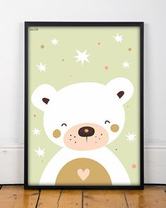 bear print kids room decor 2 tamaños kids por Ilustracionymas Nursery Prints, Nursery Wall Art, Nursery Decor, Wall Art Prints, Poster Prints, Canvas Prints, Kids Room Art, Art For Kids, Baby Posters