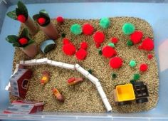 sensory tub: apple picking