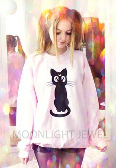 Pulli+Moon+Kitty+von+Moonlight+Jewel+auf+DaWanda.com