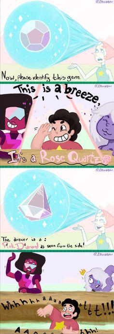 """Who's that Crystal Gem?"" ""It's Rose Quartz!"" ""It's Pink Diamond!"" ""Fuuuu-"