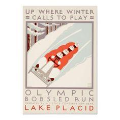 1932 Winter Olympics Print (Lake Placid, NY).