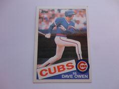 Dave Owen 1985 Topps Baseball Card