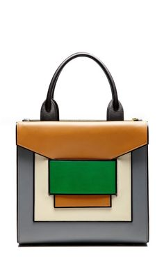 Blue, White, Green And Biege Tote by Pierre Hardy for Preorder on Moda Operandi