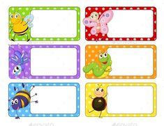 Buy Polkadot Labels With Many Insects by interactimages on GraphicRiver. Polkadot labels with many insects illustration This image was created using Adobe Indesign Included in this pack. Classroom Displays, Classroom Themes, Nametags For Kids, Spongebob Birthday Party, Book Labels, Cartoon Fish, School Labels, Puppet Making, School Posters