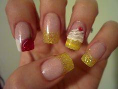 Lemon Cupcake by Anicke - Nail Art Gallery nailartgallery.nailsmag.com by Nails Magazine www.nailsmag.com #nailart