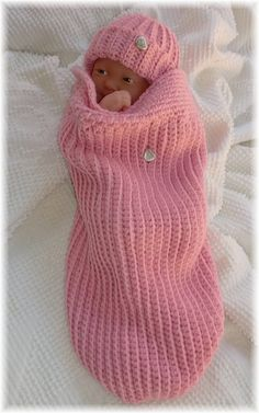 Baby/Pink cocoon swaddler for new born or preemie.  03 by luvslulu, $32.00
