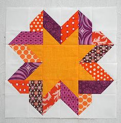Ribbon Star Block Tutorial (Although I must admit I'm looking at the instructions cocking my head back and forth like a puppy .)