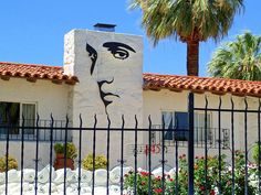 Elvis Presley's former home in Palm Springs.  At the time of his death he owned only two homes, Graceland and this home in Palm Springs.  Photo by Randall Weidner, fineartamerica.com