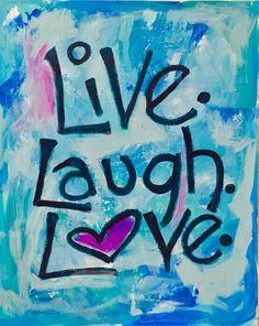 Live Laugh Love Teen Tween Girls Wall Art by unsophisticatedart www.befreetees.com
