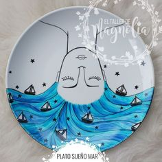 Pottery Painting Designs, Pottery Designs, Paint Designs, Pottery Plates, Ceramic Pottery, Pottery Art, Dot Painting, Ceramic Painting, Ceramic Art