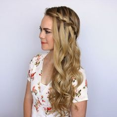 Preview of the Sideswept Waterfall Braid 🎥 To watch the full tutorial, click the link in my bio and tag a friend 👫 who would love this style! #missysueblog