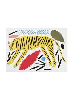 marimekko tiger poster