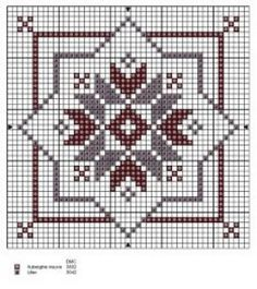 Cross-stitch Biscornu pattern... no color chart available, just use pattern chart as your color guide.. or choose your own colors...
