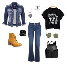 """""""ACTION WEEKENDS"""" by bettyboopberry ❤ liked on Polyvore featuring Timberland, maurices, Ray-Ban, Levi's, Tory Burch, Accessorize and Replay"""