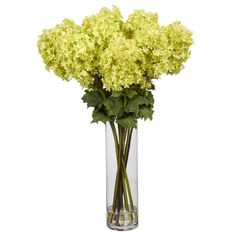 Beautiful and long lasting is this Giant Hydrangea silk flower arrangement that makes a great centerpiece and is presented by ExcellentSilkFlowers.com.