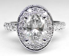 Engagement & The City | Oval Diamond Engagement Ring with double halo and...