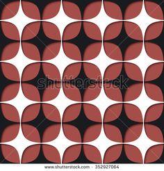 Abstract seamless mesh pattern; Modern stylish texture of mesh