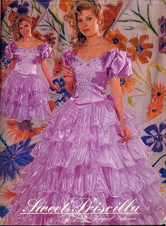 Request yours today expanded pretty quinceanera dresses Frilly Dresses, Lovely Dresses, Satin Dresses, Beautiful Gowns, Ruffle Dress, Vintage Ball Gowns, Vintage Prom, Vintage Dresses, Wedding Dresses For Girls