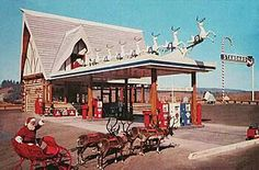 Santa's Village Gas Station @ Santa's Village, Scotts Valley, CA (closed since the 70's)