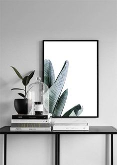 Palm Leaves Wall Art Photography Print Minimal Modern Digital INSTANT DOWNLOAD