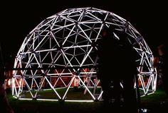 David Michael Lamb / Flourescent Geodesic Dome / Photography / 2007
