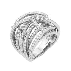 Stephen Webster Forget Me Knot 18K White Gold & Diamond Ring