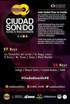Ciudad Sonido: Festival de Música Alternativa 2016 #sondeaquipr #ciudadsonido #larespuesta #santurce #sanjuan