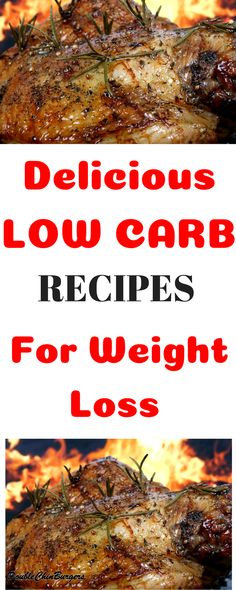Delicious Low Carb Recipes for weight loss! Burn fat and lose weight with these low carb ketogenic diet friendly #LowCarbRecipesForWeightLoss #LowCarbRecipes #LowCarb #LoseWeightFast