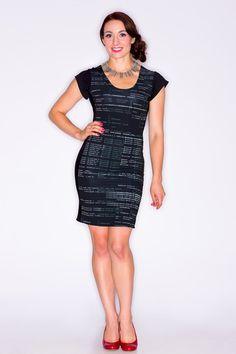 LB Code Print Dress