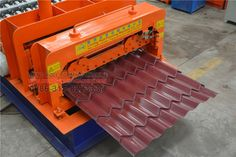 #glazed #tile #roll #forming #machine  features: small size, light weight, mobile, convenient transportation, small footprint; through the purchase and use of the corresponding shear and pressure head, you can produce different varieties, specifications Caigang glass roof tile; The user can easily select the products according to the market demand and avoid the market risks due to the single product. Diy Roofing, Modern Roofing, Steel Roofing, Roofing Shingles, Metal Shed Roof, Steel Roof Panels, Tile Steps, Grey Siding, Butterfly Roof