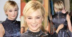 Pixie grow out. carey mulligan hair