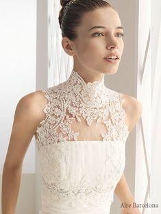 A fun wedding photo Wedding dress detail: collar. Bridal Dresses, Wedding Gowns, Bridal Gown Styles, Creative Wedding Ideas, Bridal And Formal, Beautiful Gowns, Dream Dress, The Dress, One Shoulder Wedding Dress