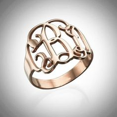 The Monogram Ring - Gold or Rose Gold