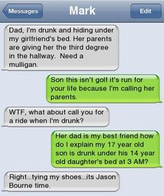 Jason Bourne Stars in The Drun... is listed (or ranked) 2 on the list 38 Drunk Texts You Wish You Got