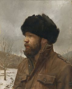 Gregory Mortenson Self Portrait in a Russian Hat