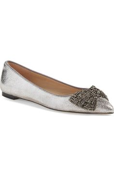 Tory Burch Vanessa Embellished Bow Flat (Women) available at #Nordstrom