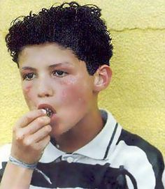 Christiano Ronaldo at a young age....