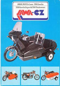 STRANGER BLOG: JAWA 350 WITH SIDECAR Vintage Advertising Posters, Vintage Advertisements, Vintage Bikes, Retro Vintage, Jawa 350, Side Car, Retro Bike, Rare Pictures, Illustrations And Posters