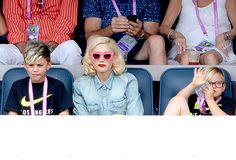 Gwen Stefani Takes Sons Kingston, Zuma to Tennis Match - Us Weekly