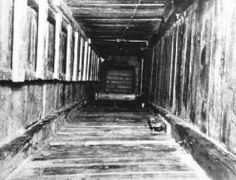 "Bedboards used to shore up one of the tunnels for ""The Great Escape"", POW attempt to escape during World War II in 1942 in the now Polish town of Zagan. Stalag Luft Iii, Total War, Prisoners Of War, The Great Escape, World War One, World History, Lest We Forget, Wwii, Germany"