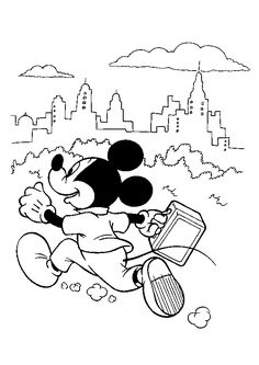 Mickey Mouse Football Coloring Page Printable Coloring Pages