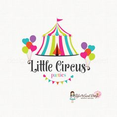 circus tent logo party logo design by stylemesweetdesign on Etsy Kids Branding, Branding Design, Tent Logo, Kids Party Planner, Party Planners, Candy Logo, Cupcake Logo, Circus Theme Party, Plakat Design