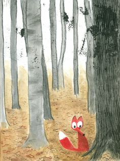 """Little Fox in the forest"" © 2013 Rob Dunlavey"