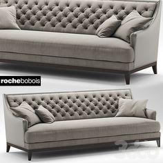Husk sofa b b italia 225 3d pinterest for Divan fauteuil