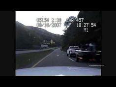 Police Chase Stolen Cop Car (Dashcam Video)