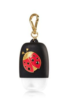 Lady Bug - PocketBac Holder - Bath & Body Works - Gold metal and gem accents… Bath N Body Works, Bath And Body, Ultra Shea Body Cream, Hand Sanitizer Holder, Baby Lips, Perfume, Pink Accessories, Hand Lotion, Polymer Clay Charms