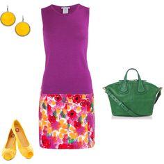 """Bright Spring/Bright Winter - purple inspiration"" by adriana-cizikova on Polyvore"