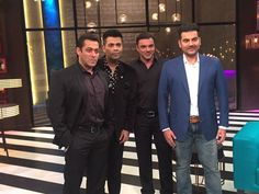 The special hundredth episode of Karan Johar's Koffee With Karan promises to be the most explosive yet with the Khan brothers - Salman, Arbaaz and Sohail - sharing the couch. When Salman Khan appeared on the show last season, he declared himself a virgin Bollywood News In Hindi, Bollywood Gossip, Bollywood Stars, Arbaaz Khan, Salman Khan, Koffee With Karan, Latest Trending News, Sr K, Latest Gossip