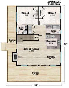 Plan Details Mobile – Natural Element Homes A Frame Floor Plans, Barn Homes Floor Plans, Timber Frame Home Plans, Loft Floor Plans, A Frame House Plans, Loft Plan, Log Home Plans, House Floor Plans, Cabin Plans With Loft